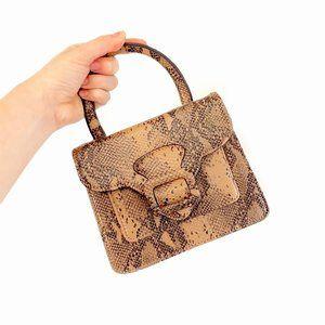 Urban Outfitters Faux Alligator Tan Mini Handbag